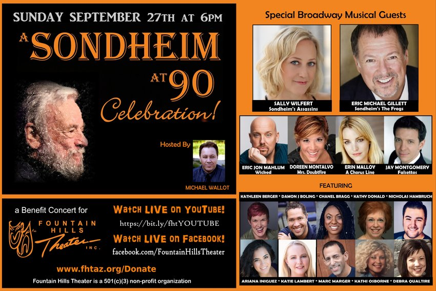 Kathleen Berger of LItchfield Park is among 10 Valley singers who will be featured in Fountain Hills Theater's Sept. 27 show along with six Broadway performers.