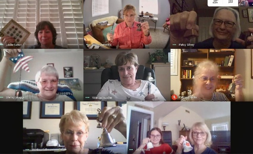 Members of the Sun City Agua Fria National Society of the Daughters of the American Revolution Chapter gathered remotely to ring bells in commemoration of National Constitution Day. [Submitted photo]