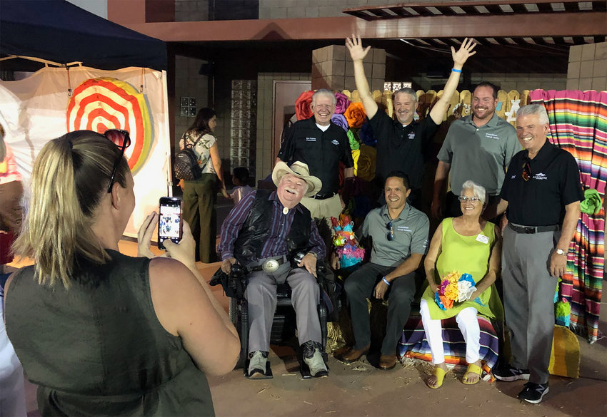 Members of the Surprise City Council pose for their group photo during the 2019 Fiesta Grande celebration in the Original Town Site.