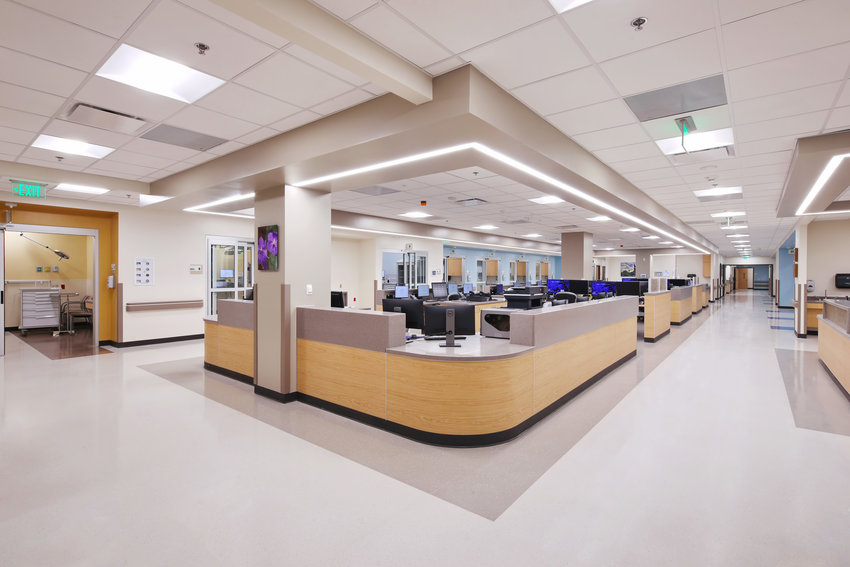 The interior of the new Banner Boswell Medical Center emergency department in Sun City can help 25% more patients annually.