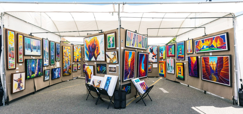 Santa Fe artist Todd Abbott Winters, whose colorful water media paintings are created on paper, canvas and various panels, will be among the featured artists at November's Litchfield Park Festival of Arts.