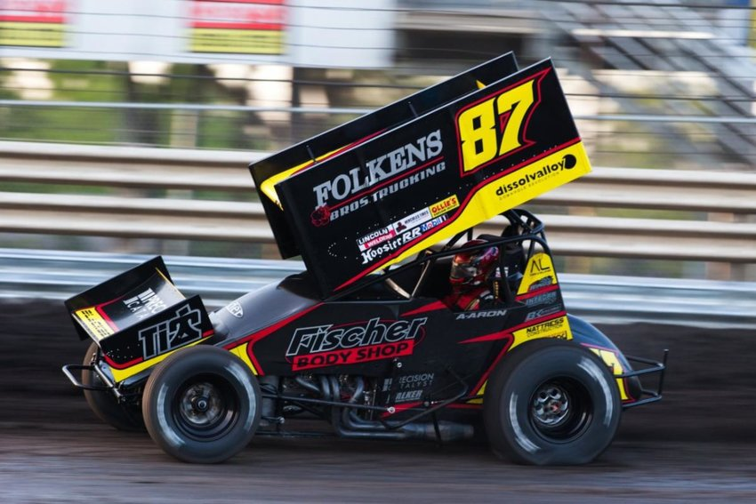 Winged Sprint Car aces Rico Abreu, Cory Eliason, Dominic Scelzi, Aaron Reutzel (above), D.J. Netto and Giovanni Scelzi are among the list of drivers who have already voiced an intent to compete in the three-race swing.