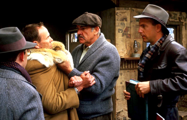"""Sean Connery, Kevin Costner, Charles Martin Smith and Brad Sullivan star in 1987's """"The Untouchables."""""""