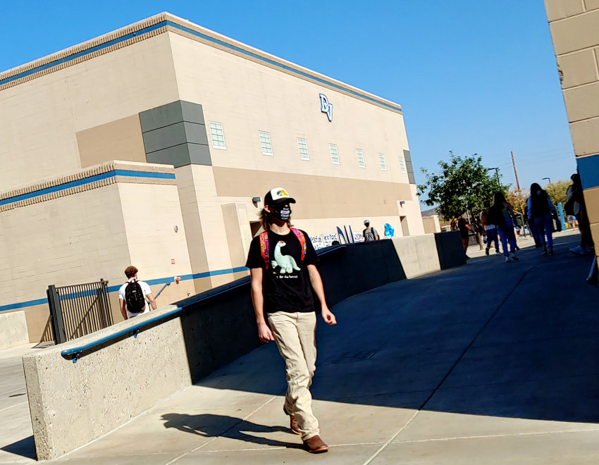 Only seniors were allowed on campus at first to usher back in-person learning at Deer Valley High School on Sept. 24.