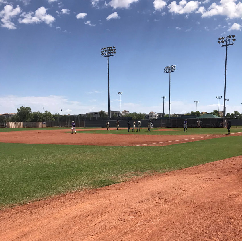 The scene at a the Perfect Game USA tournament in Surprise on July 3. The city reached an agreement to have 11 more Perfect Game tournaments from April-December 2021.