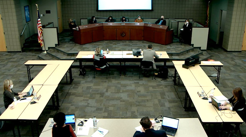 District administrators discuss plans for the spring semester learning environments during the virtual Dec. 8 governing board work session in Glendale.
