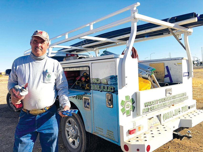 Faucet Doctor Plumbing and HVAC Service Owner Greg Singletary has seen business continue to flourish despite the pandemic. [Jennifer Jimenez/Independent Newsmedia]