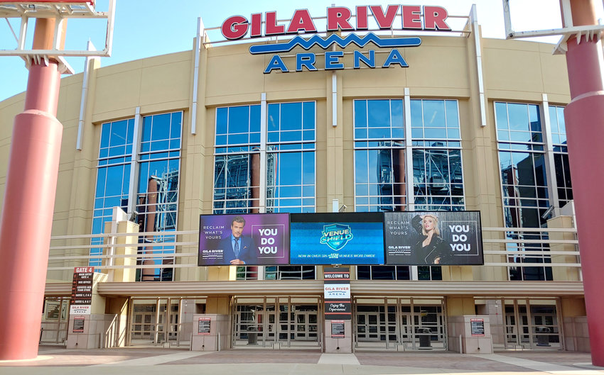 Gila River Arena in Glendale will allow limited seating capacity for Coyotes' home games in January.