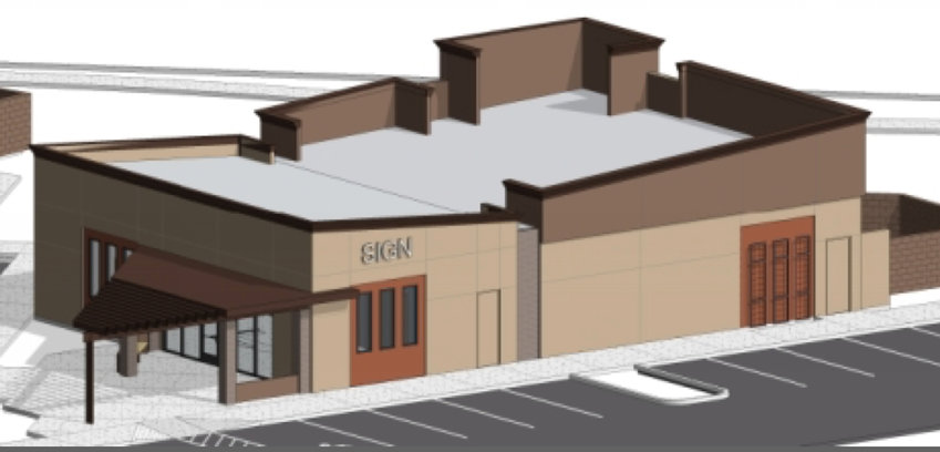 A rendering shows the Moezzi Veterniary Urgent Care Clinic that owners are asking city approval to build near Bell and Litchfield roads.