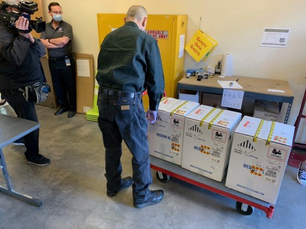 The first doses of the COVID-19 Pfizer vaccine arrive in Maricopa County, Dec. 14.