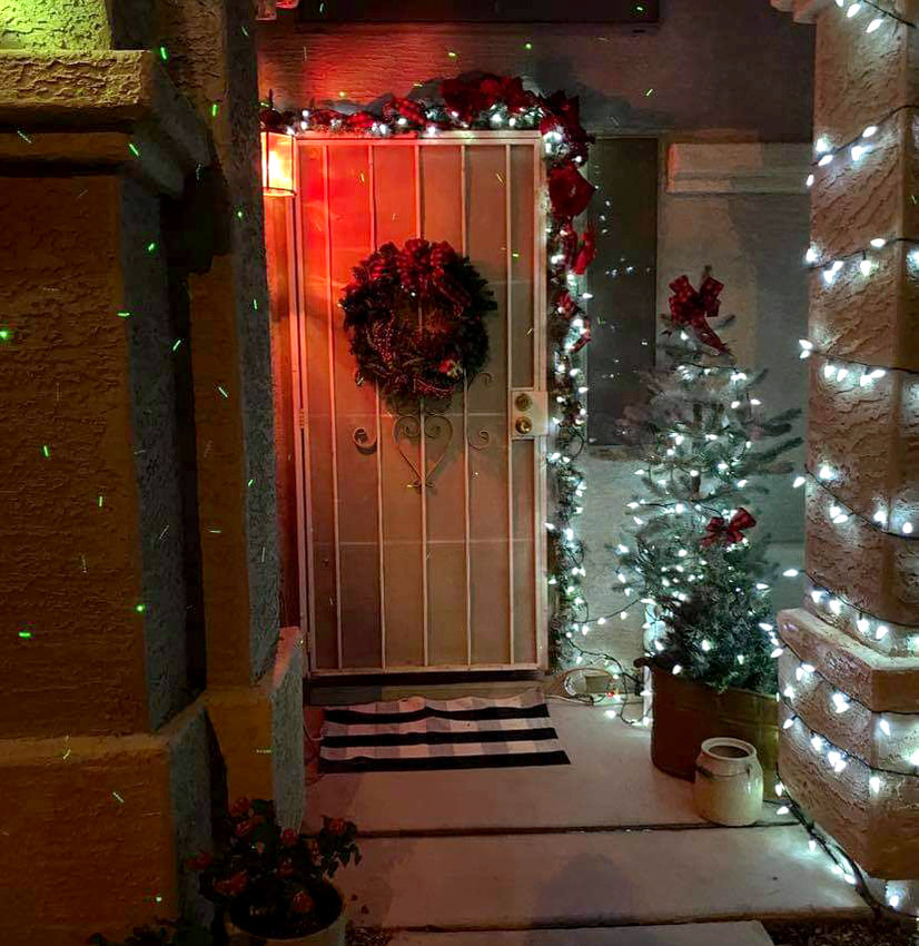 This West Valley home was decorated for Christmas this past December.