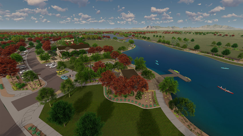 Rendering of 22-acre lake at Barney Farms