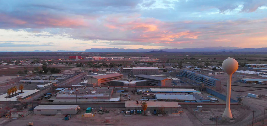 An overhead look of the central unit of the Arizona State Prison Complex - Florence