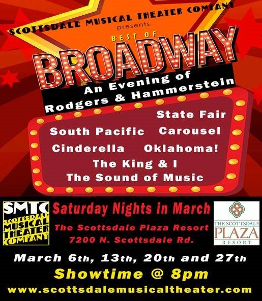 """Scottsdale Musical Theater Company will showcase its first """"Best of Broadway"""" revue for an evening of Rodgers and Hammerstein shows."""