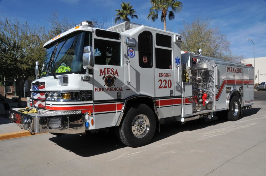 A passenger vehicle fire was reported at 7:19 p.m. Feb. 16 in the 2800 block of East Superstition Freeway.