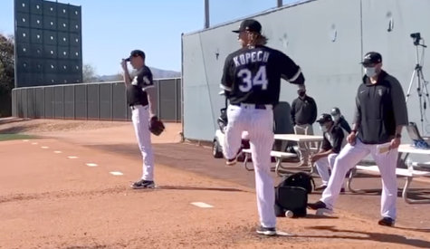 Michael Kopech and the White Sox got to work Wednesday at Camelback Ranch-Glendale.