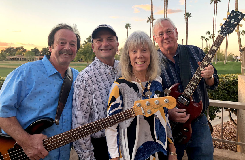From left, Larry Hill, Dan Krohn, Cheri Adams and Dave Albert perform as Cheri and the Pacemakers Feb. 27 in Peoria.