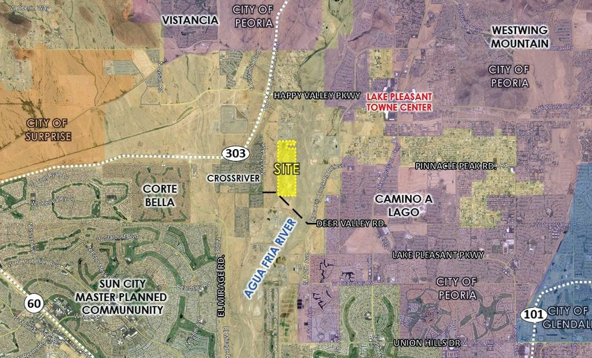 Up to 440 new home lots are planned for about 163 acres near the alignments of 115th Avenue and Williams Drive in Maricopa County.