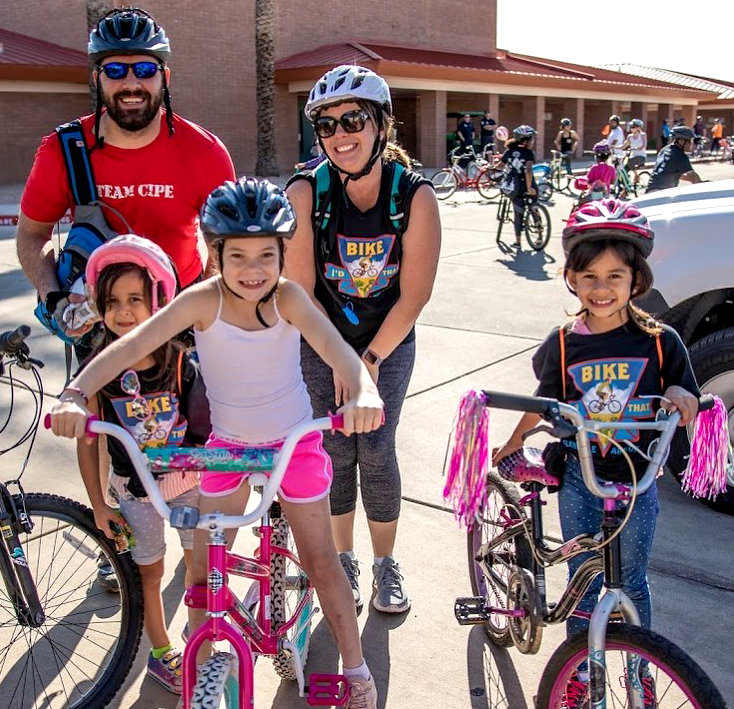 Participants take part in the 2020 Glendale Family Bike Ride.