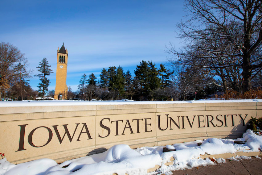Iowa State University is a public, land-grant university. The photo is from Facebook @IowaStateU.