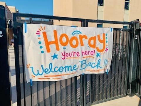This colorful sign greeted students at Verrado Heritage Elementary on March 1.