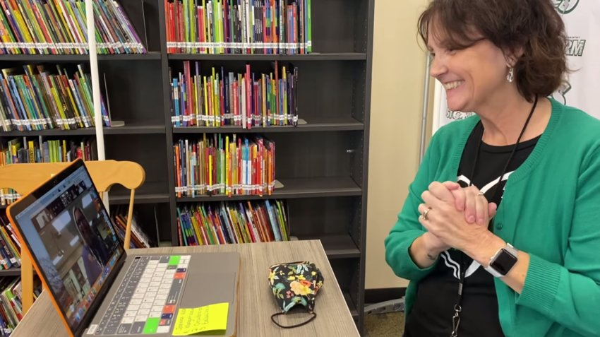 Julie Nolte smiles during a Digital Learning Academy class.