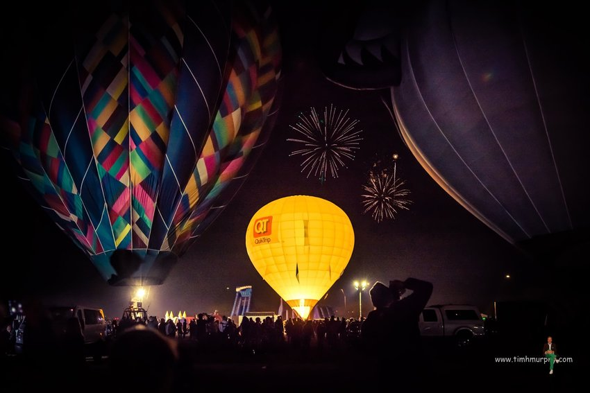 Illuminated hot air balloons glowing in time to music will be among the Arizona Balloon Classic's highlights.