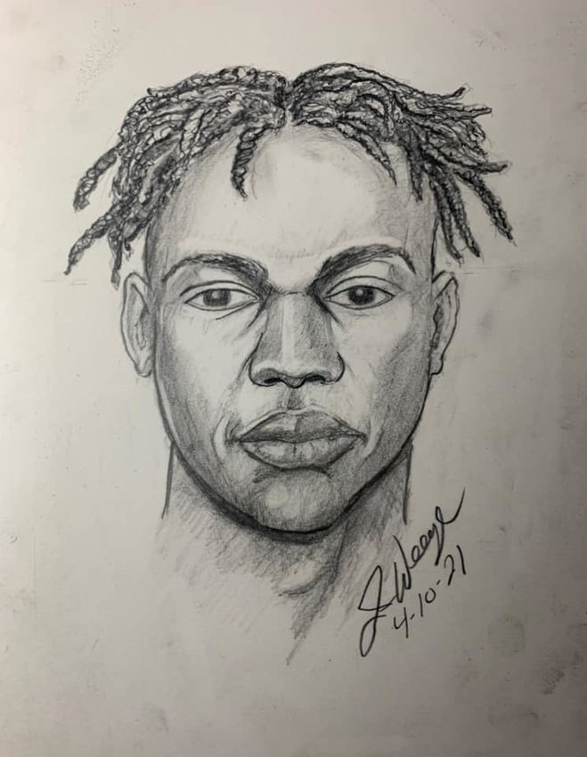 Goodyear Police released this sketch of a man suspected of trying to lure an elementary school student into his vehicle April 6. Anyone with information is asked to call Detective B. Erickson at 623-882-7422.
