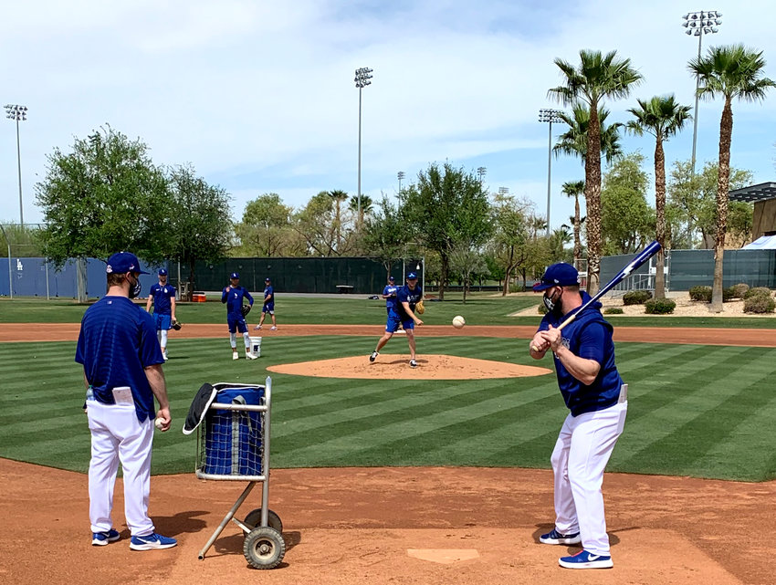 Dodgers' minor league players and coaches continue to work out at Camelback Ranch-Glendale.