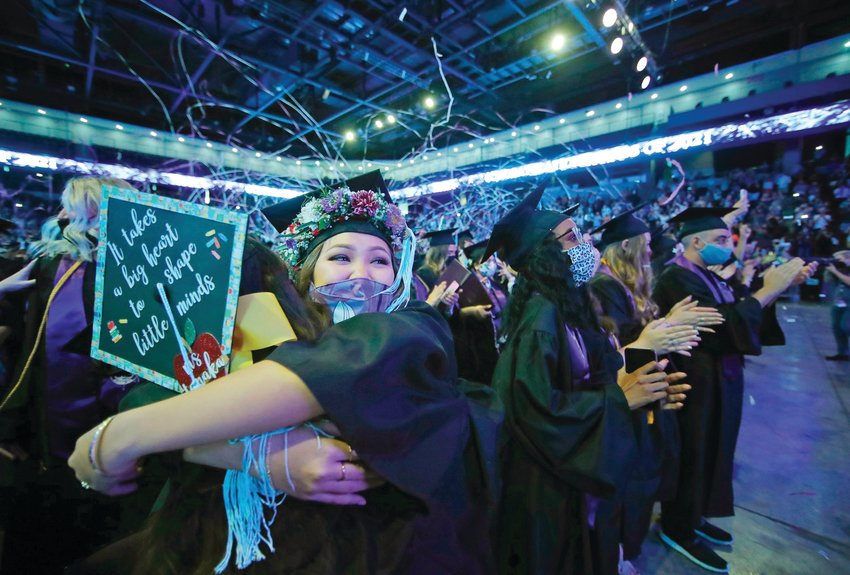The class of 2021 at Grand Canyon University in Phoenix graduated on Monday and is entering a job market that is far friendlier than the one graduates entered this time last year.