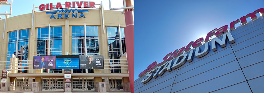 Gila River Arena and State Farm Stadium in Glendale are both free to pursue legalized sportsbooks inside their venues, thanks to a new bill signed by Gov. Doug Ducey.