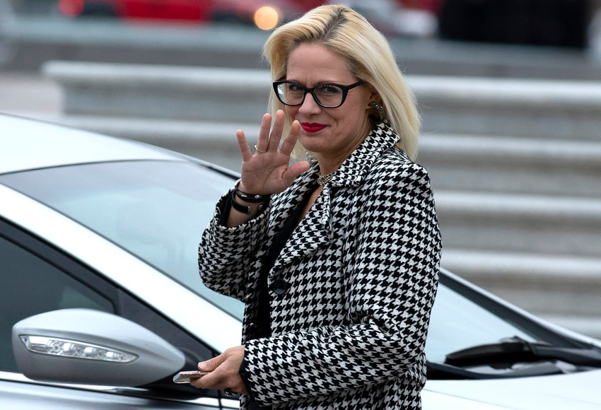 Sen. Kyrsten Sinema, D-Arizona, seen Feb. 5, 2020 in Washington, will join a virtual webinar with the Glendale Chamber of Commerce on Wednesday, May 12.