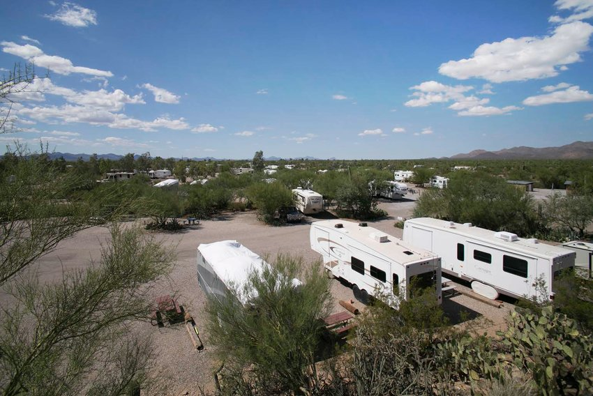 The sales of a 25-acre RV park in Tucson (above) and 4.63 acres in Safford totaling $4.57 million highlight recent deals by NAI Horizon professionals.