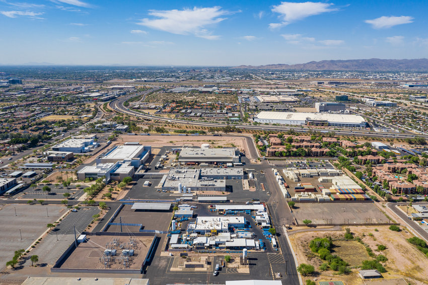 A commercial real estate company announced the $10.25 million sale of a former Motorola manufacturing center near 52nd and Roosevelt streets in Phoenix.