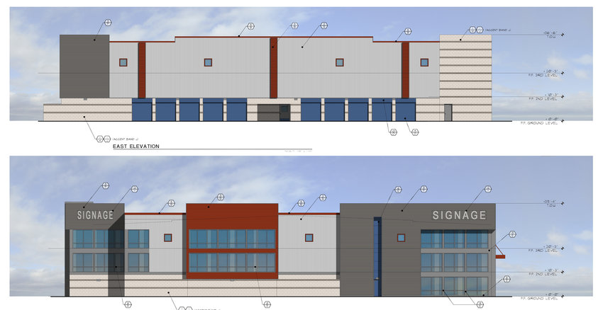 An architect's rendering of what the self-storage facility is to look like.
