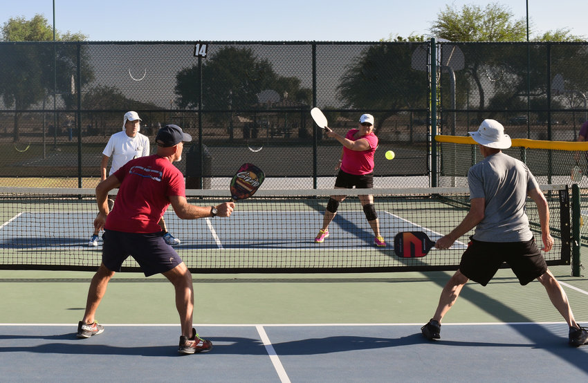 Open courts are hard to come by at the Surprise Pickleball Courts, who are busy most days all day long. Some studies have shown pickleball is the fastest growing sport in the country.