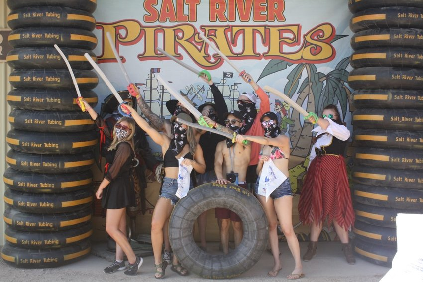 Free pirate bandannas will be given to everyone June 12 while supplies last and Salt River Tubing will be awarding free tubing passes for the best pirate tuber costumes.