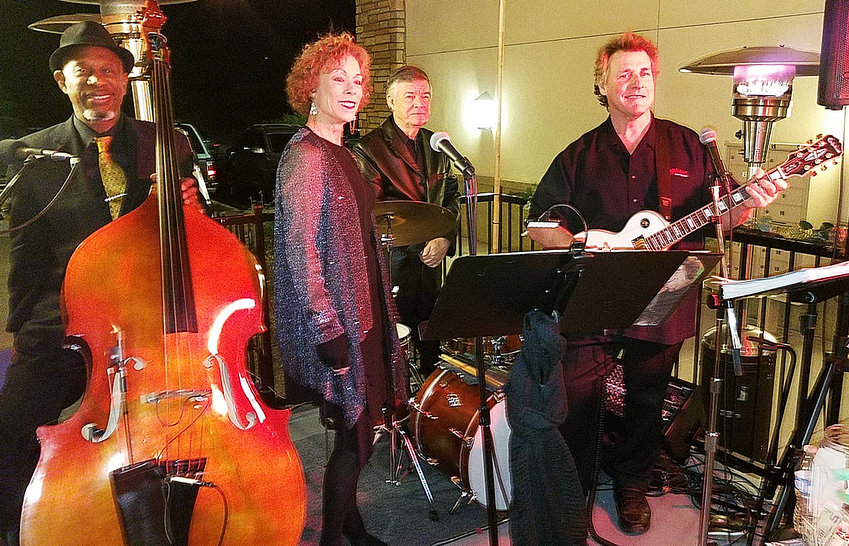 The Priscilla Rose Band features, from left, Ray Carter, Priscilla Pinches, Jack Lake Jr., and Rich La Rose.