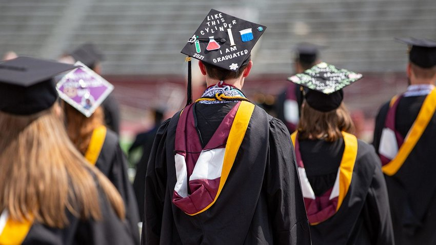 Morningside College had its spring graduation in May. The full list of graduates is with this photo at morningside.edu/news/morningside-announces-class-of-2021-graduates.