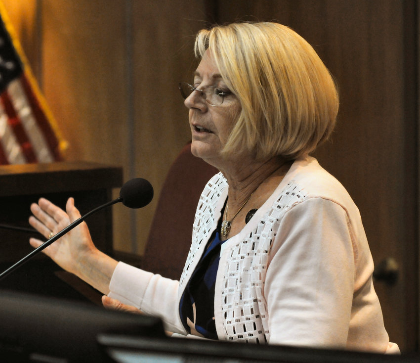 Senate President Karen Fann, in this 2020 file photo, says she's prepared to ensure the state Legislature passes an increase in Arizona's jobless benefits. (Howard Fischer/Capitol Media Services)