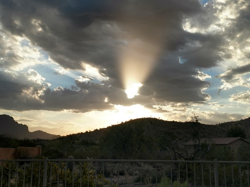 Sunrise in Superstition Foothills, Gold Canyon