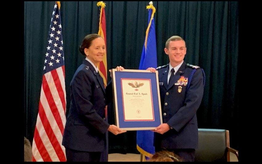 A 2021 Anthem area high school graduate received a prestigious honor June 17 for his work with the Civil Air Patrol, the Arizona Wing of the group announced.