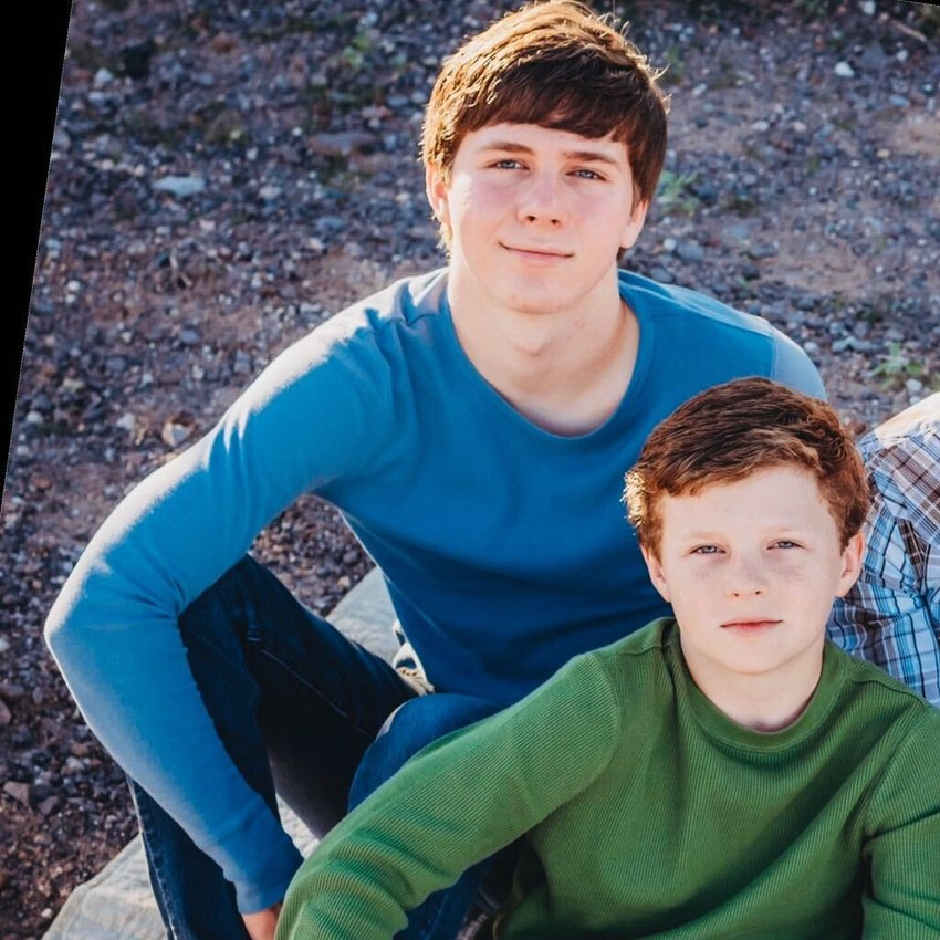 Landon Hack, left, and Carson Hack, right, are home schooled North Peoria residents who are on the Surprise-based LAUNCH Robotics team that won the Regional Chairman's Award for Arizona and Nevada May 8.