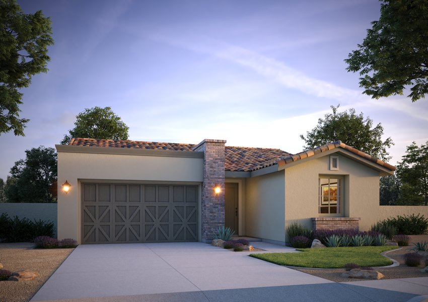This image shows one of the home styles available in Goodyear's Vidrio in Estrella community.