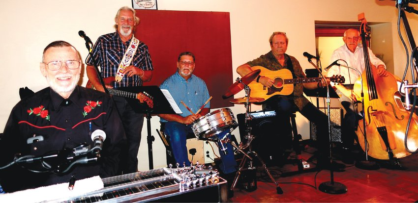 Members of the band are Dave Beaty (pedal steel guitar, vocals), Fred Rothert (lead guitar, vocals), Randy Ferguson (drums, vocals), Keith Watts (rhythm guitar, vocals), Denny Sarver (upright bass, vocals) and, not pictured, Bob Glidden (lead guitar, vocals).