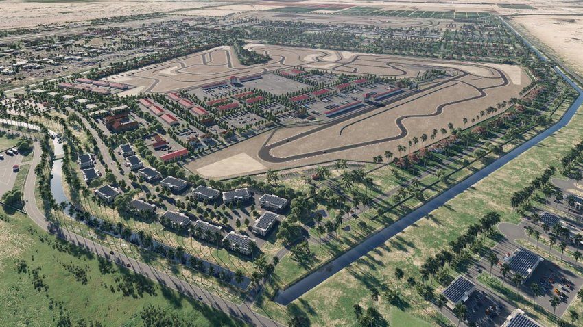The Podium Club will have a bi-directional, 15-turn, 2.25-mile paved road course and leased garages for phase one followed by residential and industrial areas, track expansion, and an RV park. The track will be multi-configurable, eventually connecting to an additional multi-configuration circuit to create one large 4.45 mile, 32-turn circuit.