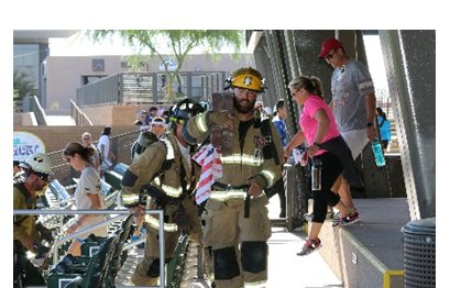 The 9/11 Memorial Stair Climb is not a timed race event, but honors the Fire Department of the City of New York (FDNY) firefighters, police and EMS heroism on Sept. 11, 2001.