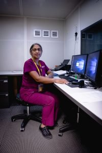 Aparna Rao, pictured at the ASU Speech and Hearing Service clinic in Tempe, leads a collaborative effort to provide hearing care to low-income residents.