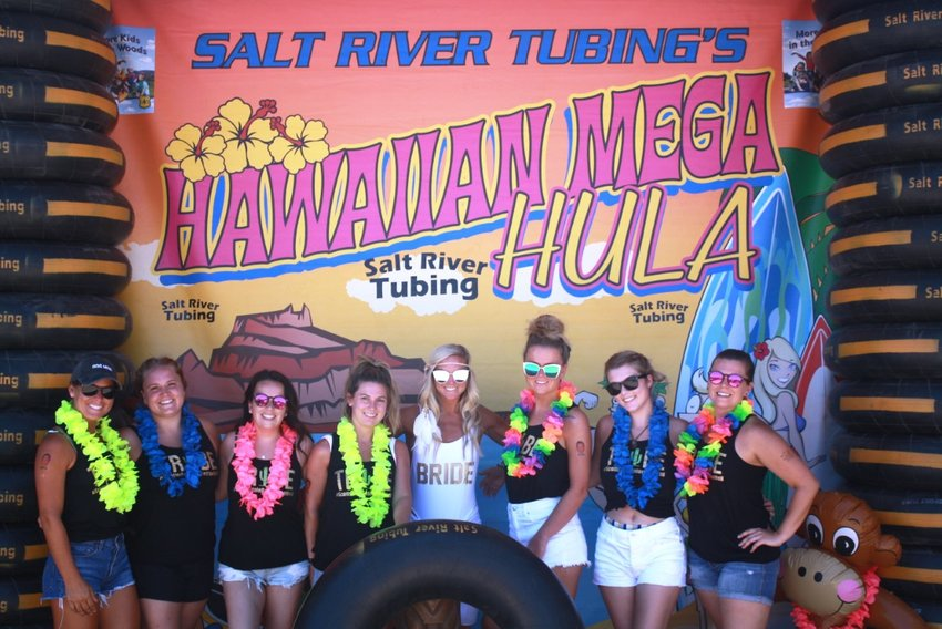 """The Mega Hawaiian Hula event at Salt River Tubing offers a """"Polynesian'""""journey in the great outdoors of Tonto National Forest."""