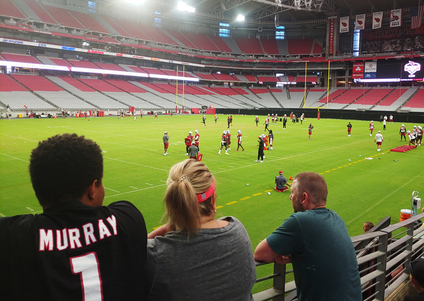 Cardinals fans get their first on-field look at the team on Friday, July 30 at the first day of training camp sessions open to the public.